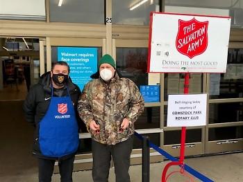 Comstock Park Rotarians at the Alpine Avenue Walmart.