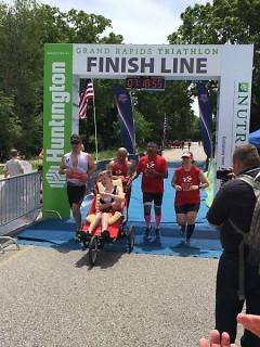 Dallas Van Deusen completes a half-ironman race.