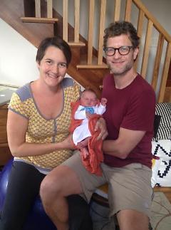 Dana Boyer and Russ Gorton with newborn Hazel June Gorton