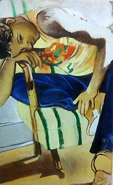 """""""Allie in Sunlight"""" (2007), located on the third floor of Mary Free Bed Rehabilitation Hospital."""