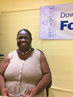 The help Dionne receives from the Downtown Food Pantry has helped her provide for dozens of foster children over the years.