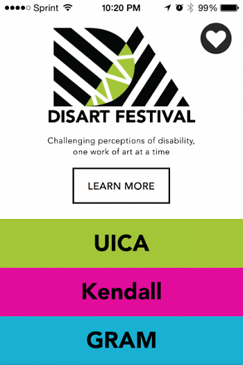 Access UICA app screenshot