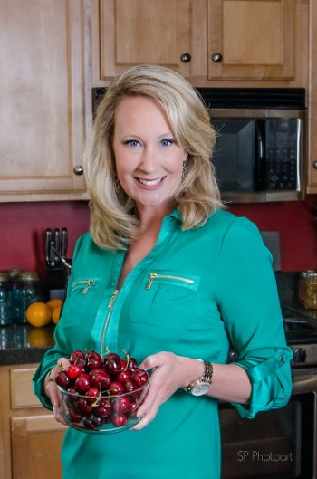 Canning Diva with fresh produce to be canned.