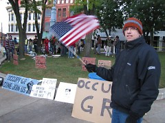 George Bartnick at Occupy Grand Rapids