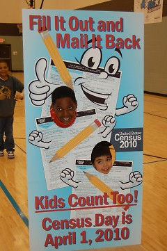 BGC Club members learn about how to be counted in the 2010 Census.