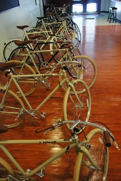 Inside Central District Cyclery.