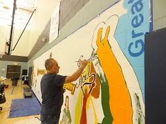 ArtPrize Artist Alfredo Gomez painting 31st mural in U.S.