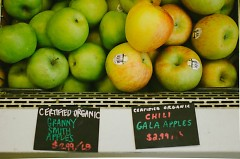 Apple Prices at Nourish Organic Market