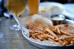 Grilled Cheese and Crack Fries at HopCat