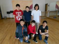 Members of Aerial Tactic clockwise: Ignacio, Carlos, Antonio, Daniel, Noe and Edgar