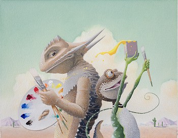 Art & Max, 2010. Watercolor and acrylic on paper, 9½ x 12 inches. Copyright ©2010 by David Wiesner.