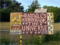 """Taken in front of 1001 Lake Drive, the """"Center of the Universe"""" building before the building was built."""