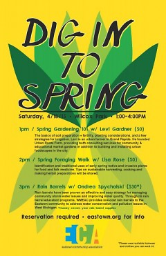 """Dig into Spring"" workshop schedule"
