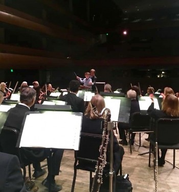 Though the house was empty, Grand Rapids Symphony performed a portion of its 5th Grade Concert for one youngster.