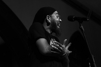 Fable the Poet performing at 2017's Bull City Slam at Jackson Hall in Durham, NC.
