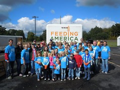 Volunteers are a core part of Feeding America West Michigan's success in distributing tons of food.