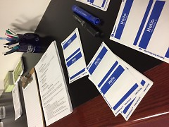 Resources and information were available for attendees to learn more.