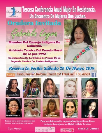 Information for the third Conference Mujer En Resistencia 2019.The Zoquitecas will be performance to open the event.