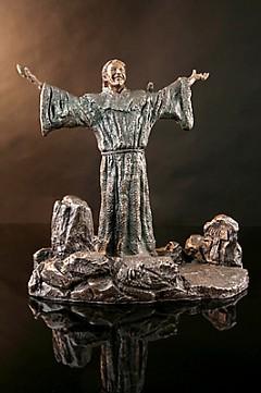 A joyful St. Francis of Assisi