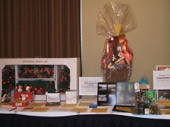 Silent auction items from a previous year's gala