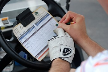 Board Member and golfer J.K. Symancyk tallies his rounds.