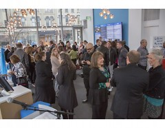 Guests mingling before GoSite Ribbon-Cutting Ceremony begins