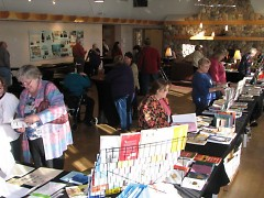 Attendees checking out the vendor tables at the 2011 GotAncestors?! Seminar