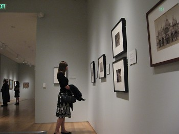 Jewly admires the art at the GRAM