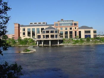 Grand Rapids Public Museum, overlooking the Grand River.