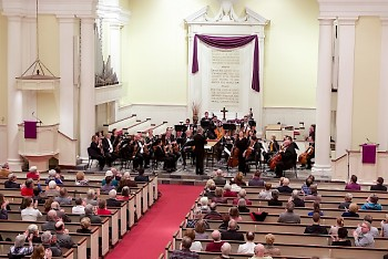 Grand Rapids Symphony performs in several area churches during the 2019 Grand Rapids Bach Festival.