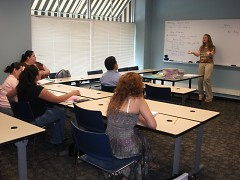 An ESL class at the Wealthy Learning Corner