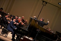 Music Director Marcelo Lehninger leads the Grand Rapids Symphony in St. Cecilia Music Center with pianist Daniel Hsu.