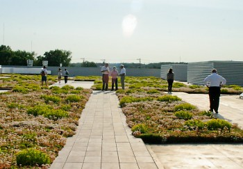 The Rapid Operations Center's 40,000 sq. foot green roof retains 9 million gallons of water each year