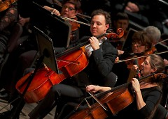 "Assistant Principal Cellist Jeremy Crosmer composed ""Gathering Sunset,"" debuted by the Grand Rapids Symphony on Nov. 18-19, 2016"