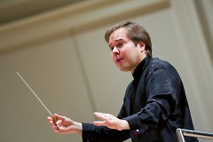 Music Director Marcelo Lehninger leads the Grand Rapids Symphony.