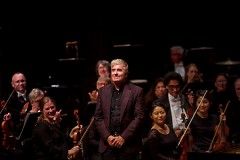 Jean-Yves Thibaudet, one of the world's greatest pianist, acknowledges audience applause in DeVos Performance Hall.