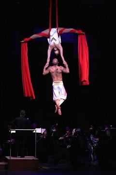 Cirque de la Symphonie joins Grand Rapids Symphony for the 7th annual Cirque de Noel in DeVos Performance Hall.