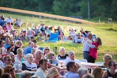 Audiences dance the night away to the Music of ABBA at the Grand Rapids Symphony's Picnic Pops.