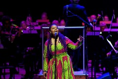 Lalah Hathaway joined the Grand Rapids Symphony for its 'Symphony with Soul' on Saturday, Feb. 18, in DeVos Performance Hall.