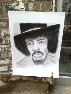 """Jimi Hendrix,"" original drawing by Tom Salazar"