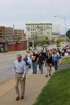 Mayor Heartwell led the start of the walk in 2012.