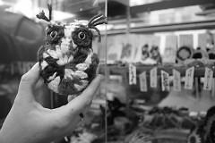 Crocheted mini-owl by Candace Benson