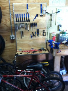 The Bike Shop will start up again at the beginning of the school year.