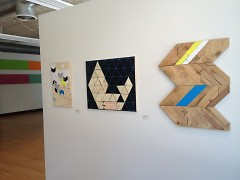 chevrons, one of Wierenga's many inspirations, appear frequently in her art