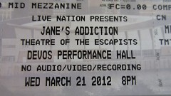 Jane's Addiction's first GR show since December 1988.