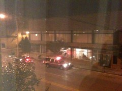 The scene at 106 S. Division