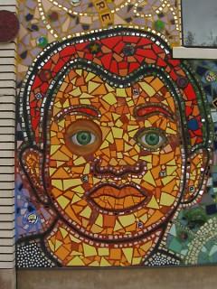 """Imagine That"" mosaic on The Grand Rapids Children's Museum."
