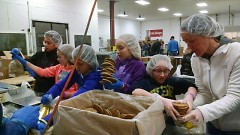In one hour at Feeding America West Michigan, a volunteer can provide 150 meals.