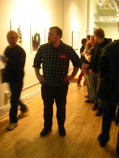 Curator Hunter Bridwell at 40 South Division Avenue.