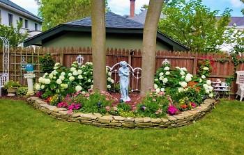Backyard garden of Karen Coy in Grand Rapids' Heritage Hill neighborhood.